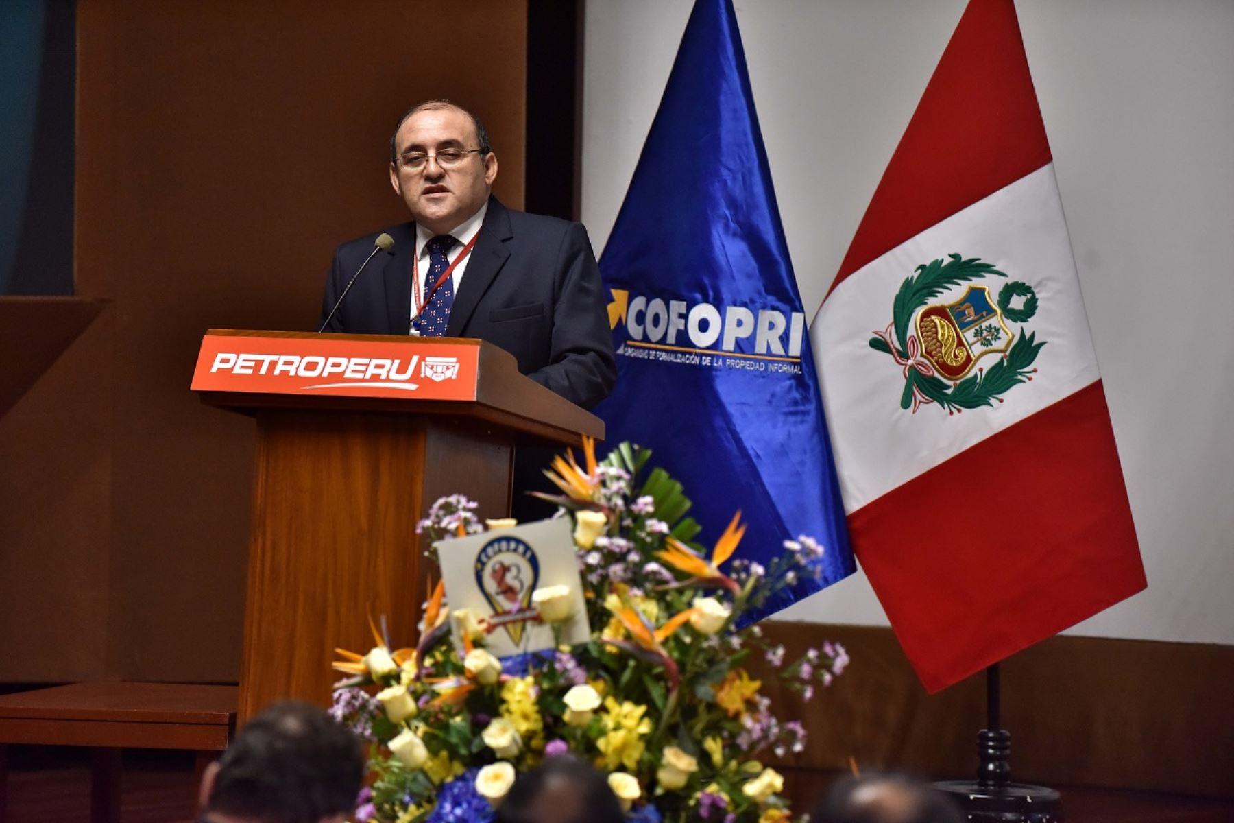 Director ejecutivo de Cofopri, César Figueredo. Foto: Cortesía.