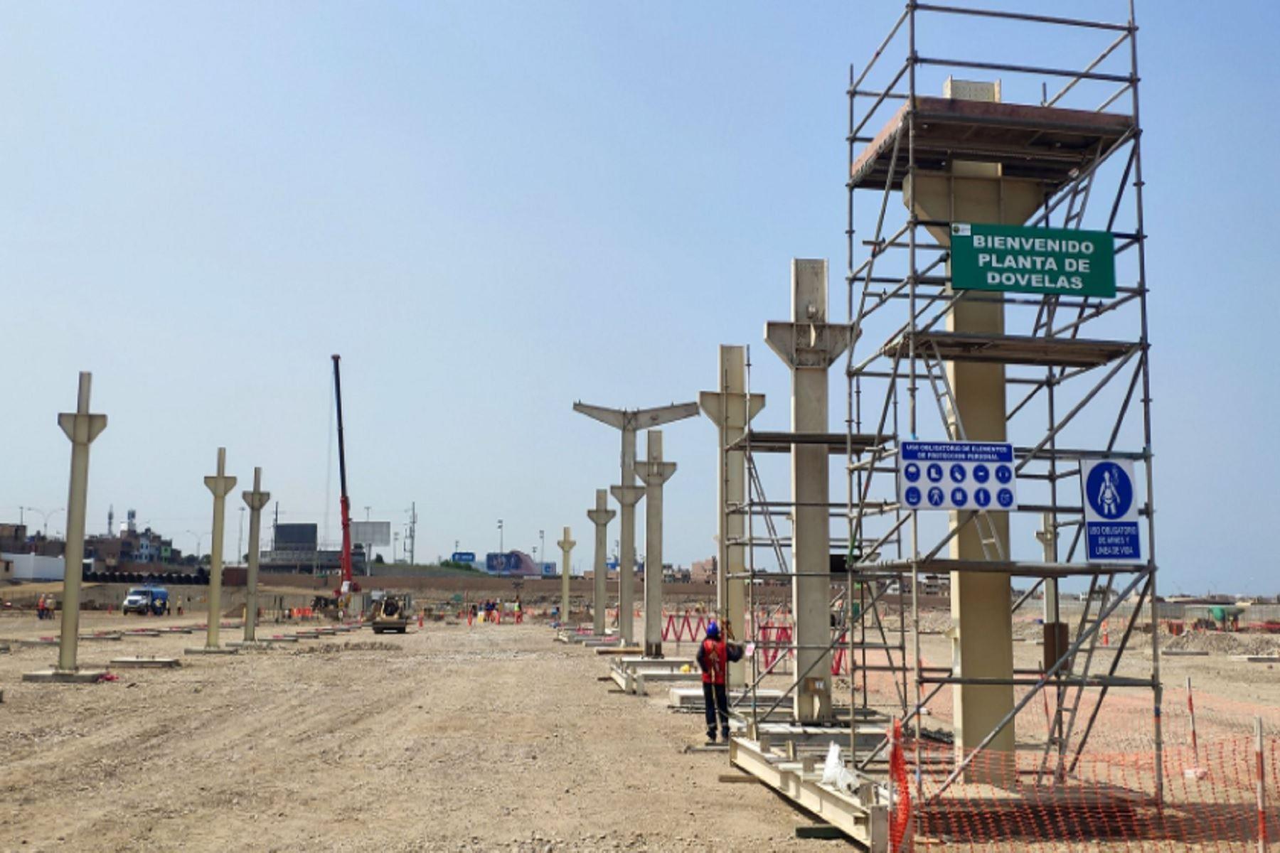 Obras para la construcción de la línea 2 del Metro de Lima. ANDINA/Prensa Presidencia