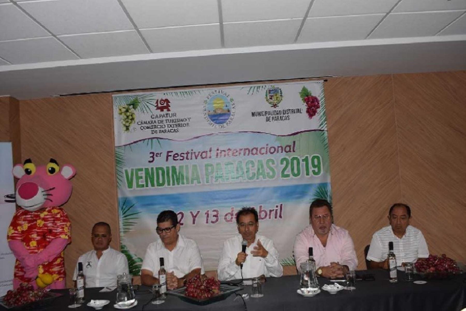 Alrededor de 10,000 visitantes captará el III Festival Internacional de La Vendimia – Paracas 2019, en la región Ica, a realizarse del 12 al 13 de abril próximo, estimó el presidente de  la Cámara de Turismo y Comercio Exterior de Paracas (Capatur), Eduardo Jáuregui.