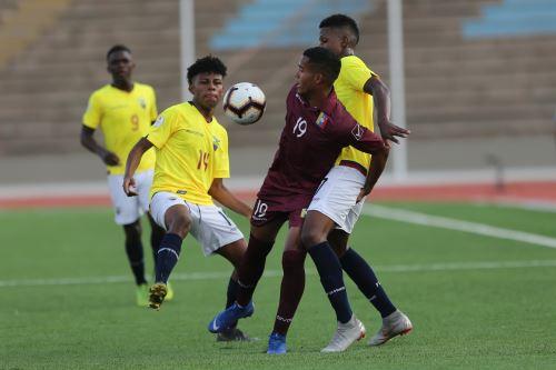 Ecuador empató 1 a 1 con Venezuela en Campeonato Sudamericano Sub-17