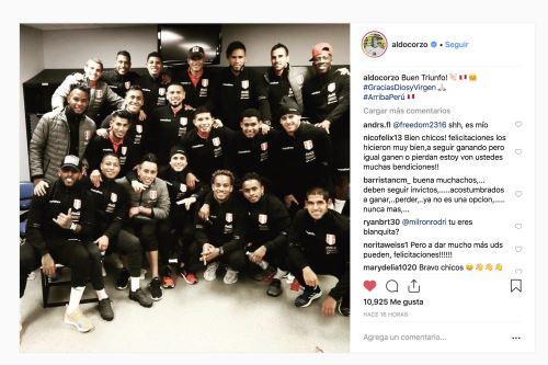 Perú  vs. Paraguay: La alegría de los jugadores tras la victoria