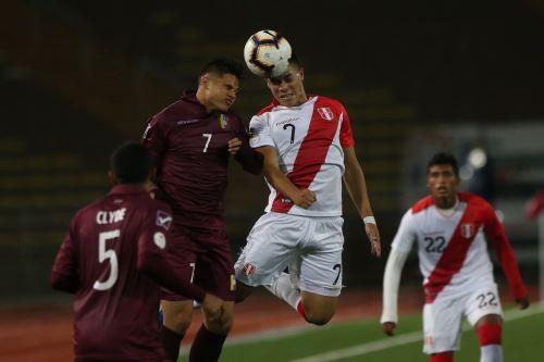 Perú empató 0-0 con Venezuela por el Campeonato Sudamericano Sub-17