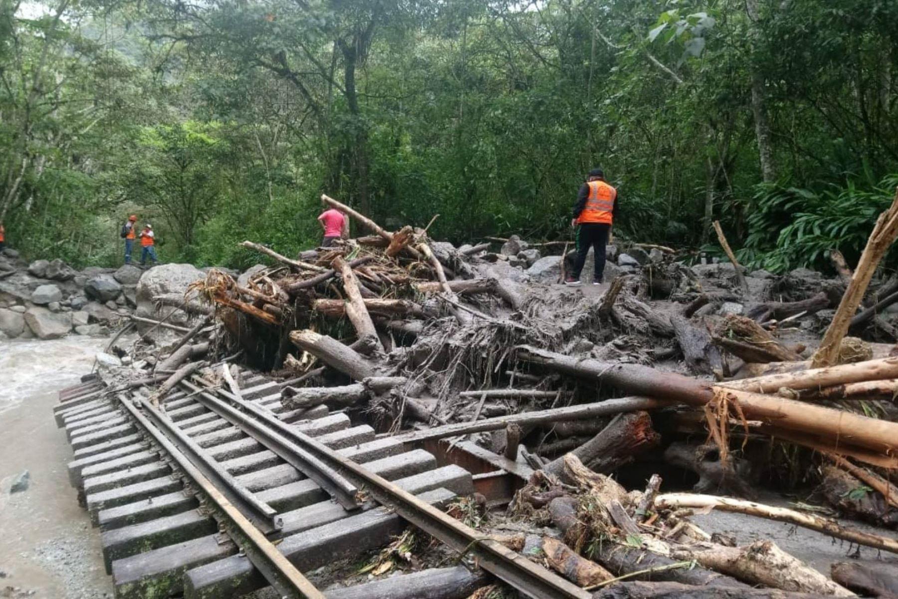Crecida de río obliga a suspender servicio de tren Machu Picchu-Hidroeléctrica. ANDINA/Difusión