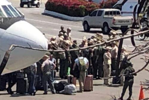 Llegada de aviones rusos al aeropuerto de Venezuela. Foto: @LlopisMarta95/Twitter