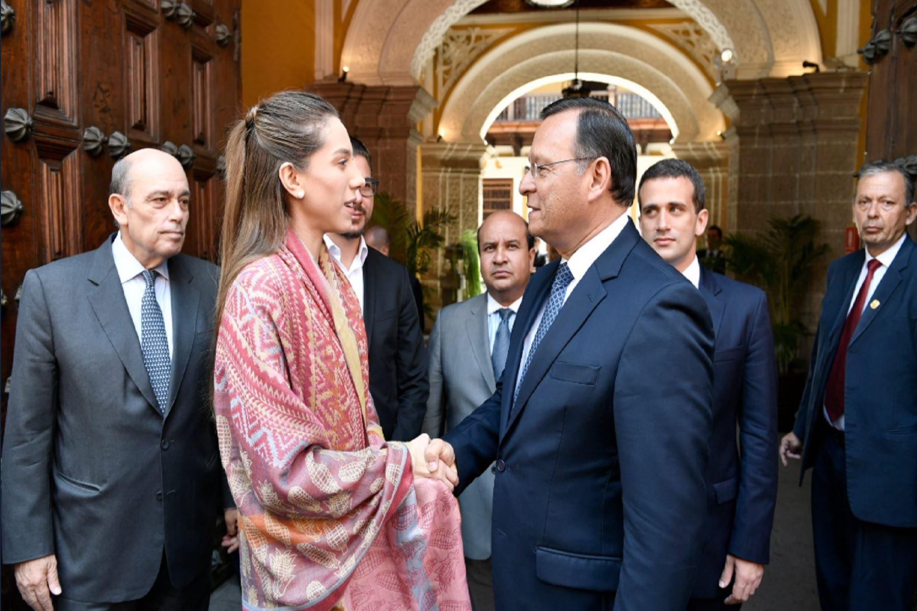 Canciller Néstor Popolizio recibió esta mañana a esposa de Juan Guaidó