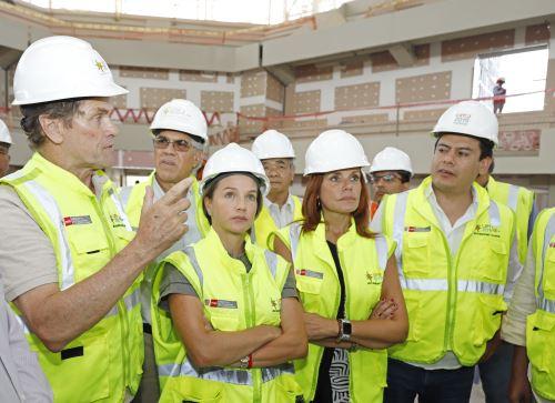 26/03/2019   Lima 2019: Mercedes Aráoz y congresistas visitaron sedes de Villa El Salvador Foto: ANDINA/Difusión