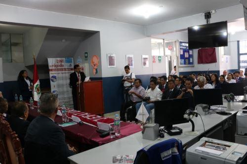 Inauguración de oficina registral del Reniec en Abancay