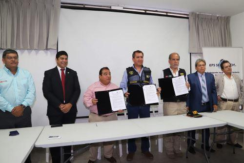 La EPS Semapach y el Inpe firmaron un convenio para ejecutar un proyecto de agua potable en el establecimiento penitenciario de Chincha.