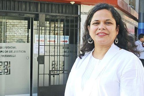 Katherine La Rosa Castillo, jueza de Familia de Ventanilla. Foto: ANDINA/archivo.