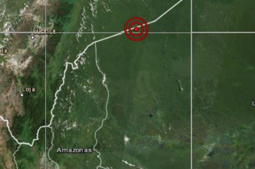 Epicentro del sismo de magnitud 4.7 se ubicó cerca de la localidad de Pastaza, en Loreto. ANDINA/Difusión
