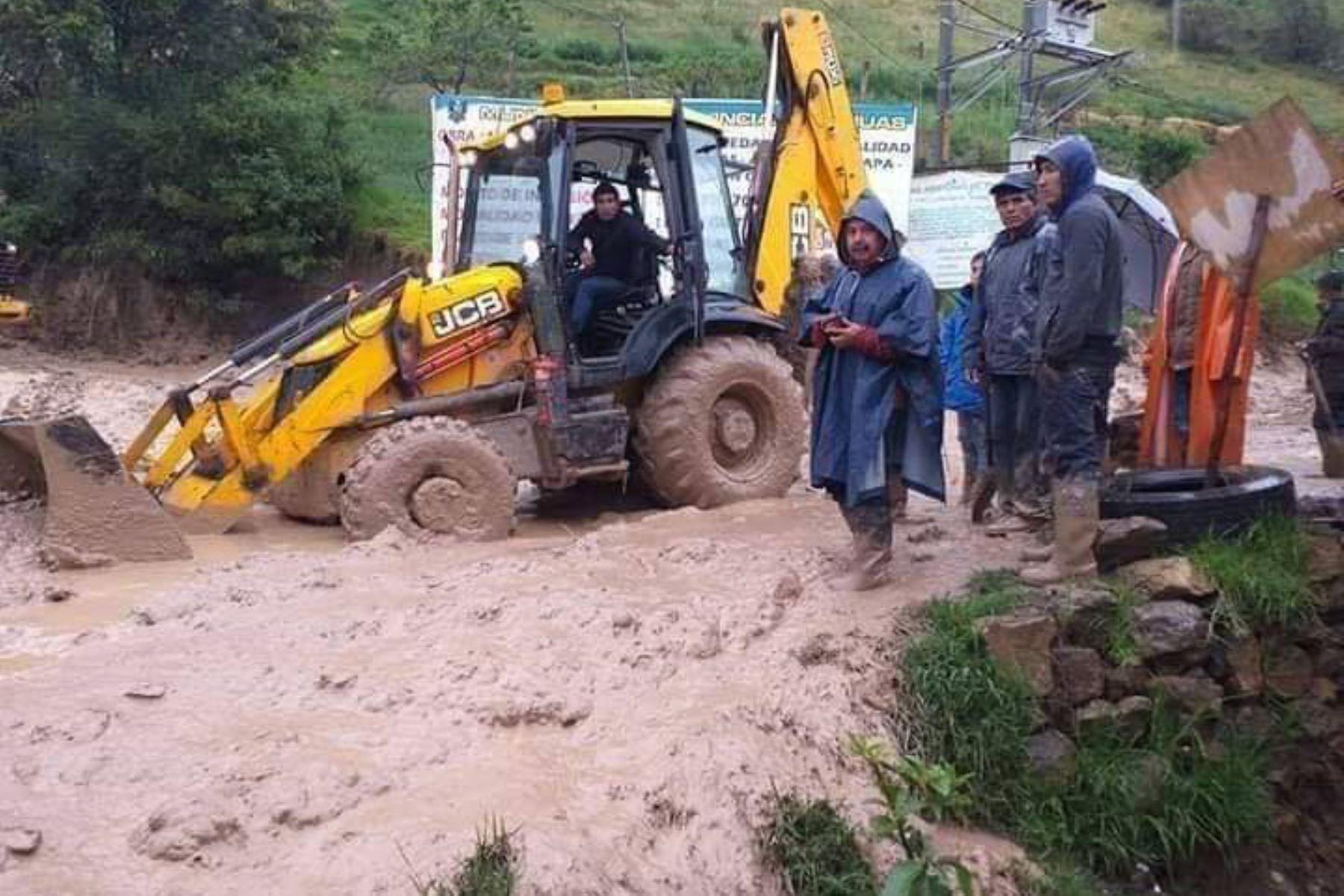 Intensas lluvias provocaron erosión fluvial en Pomabamba, región Áncash, que aún no han sido superados. Foto: INTERNET/Medios