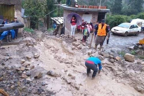 Lluvias intensas provocan huaico que afecta a 20 viviendas ubicadas en centro poblado de provincia de Pomabamba, en Áncash. INTERNET/Medios