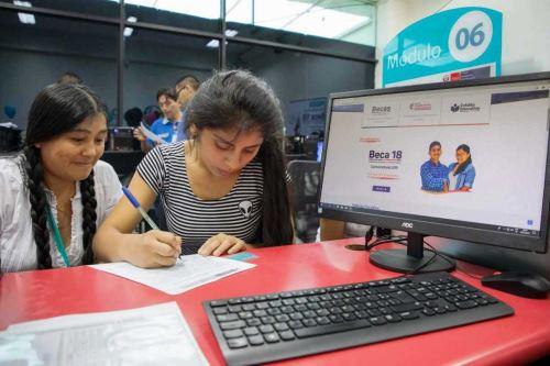 Gracias a asesoría de Pronabec, seleccionados escogieron carreras muy demandadas por mercado. Foto: ANDINA/Pronabec