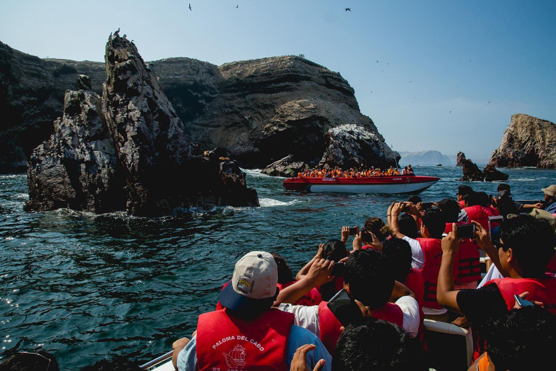 Con cerca de medio millón de visitantes, las islas Ballestas fue el área natural protegida más visitada en 2018. ANDINA/Difusión