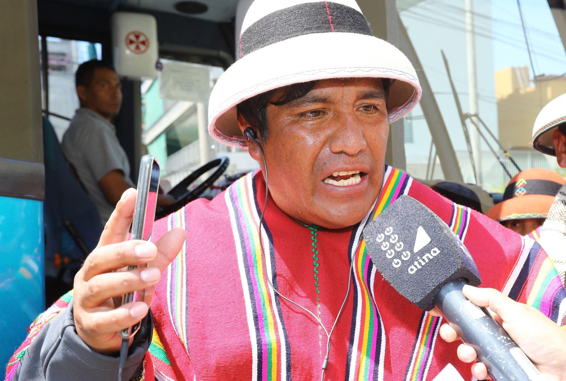 Obispo Huamaní ex presidente de la comunidad de Fuerabamba Foto: ANDINA/Norman Córdova