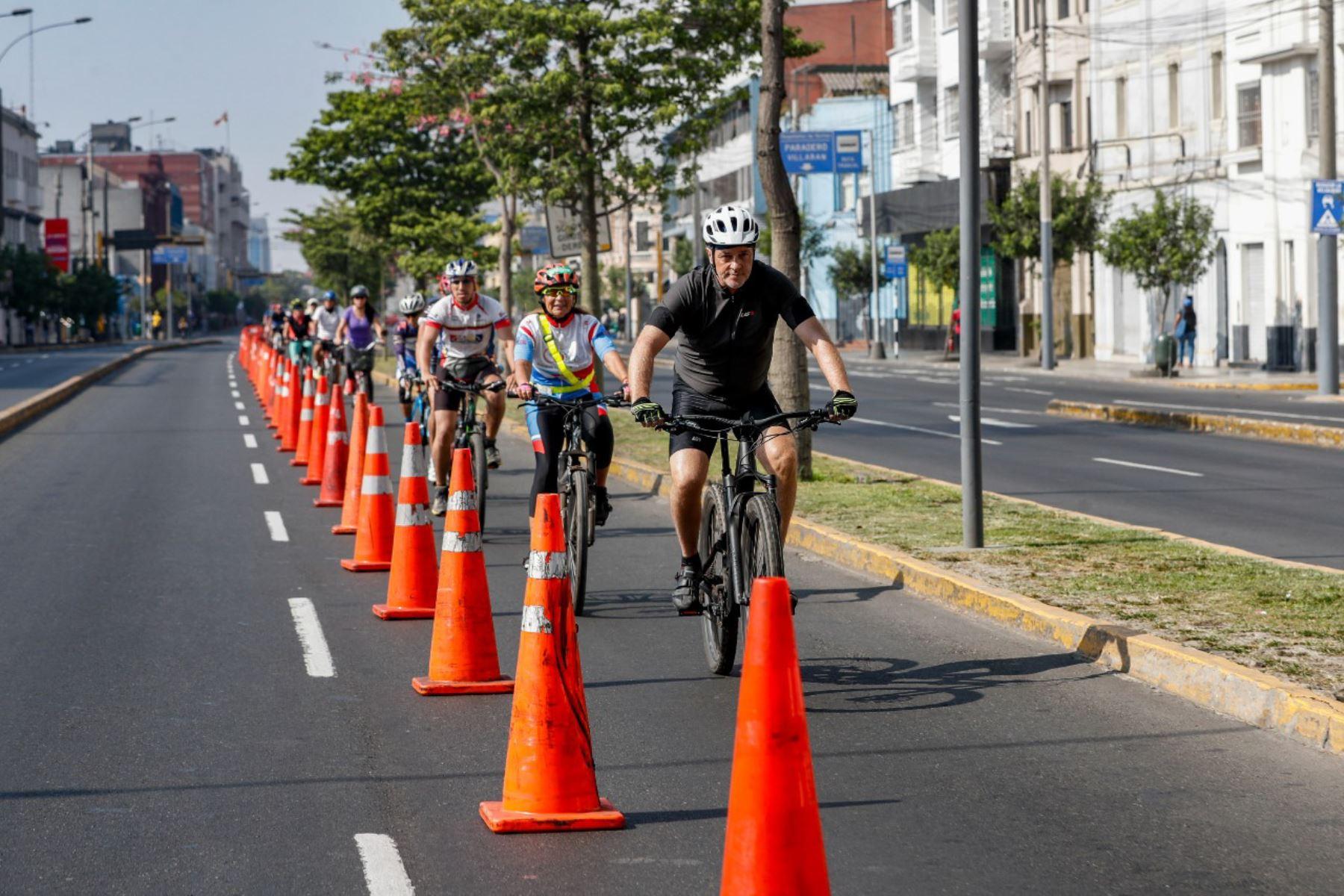 Inauguran ciclovía en Centro Histórico de Lima. Foto: Andina/Difusión