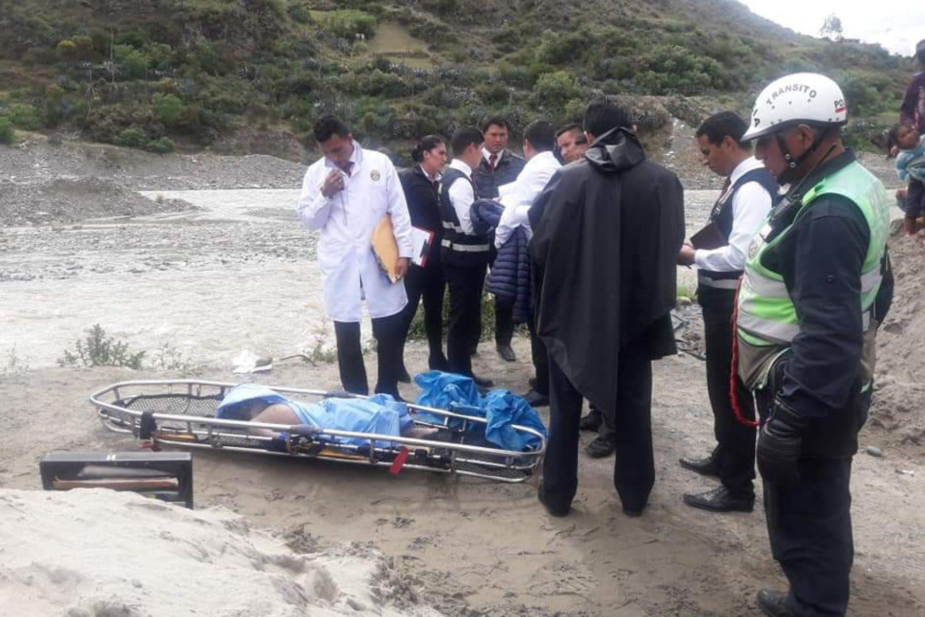 Policía halla cadáver de niña de 5 años en el río Santa, en Áncash. ANDINA/Difusión
