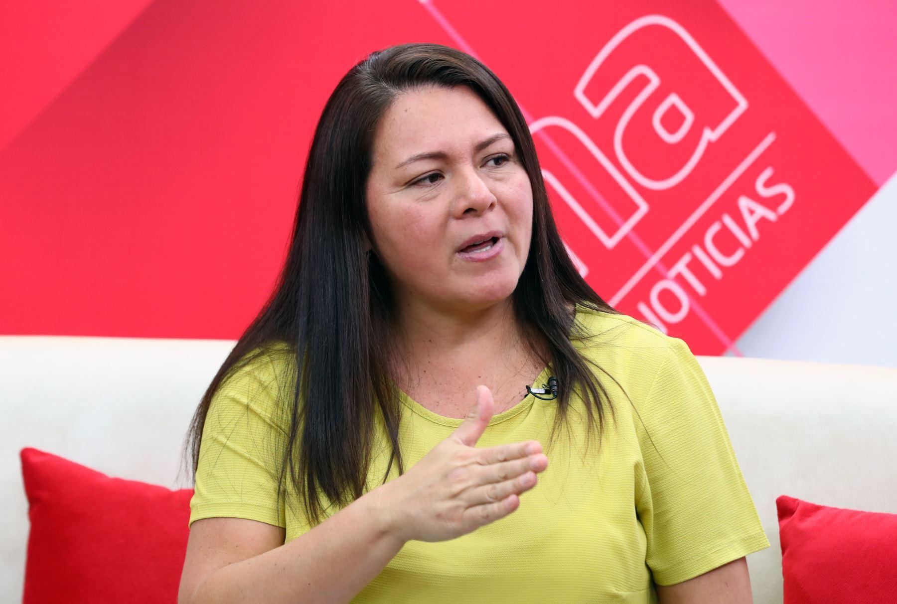 Secretaria de Gobierno Digital de la PCM, Marushka Chocobar. ANDINA/Norman Córdova