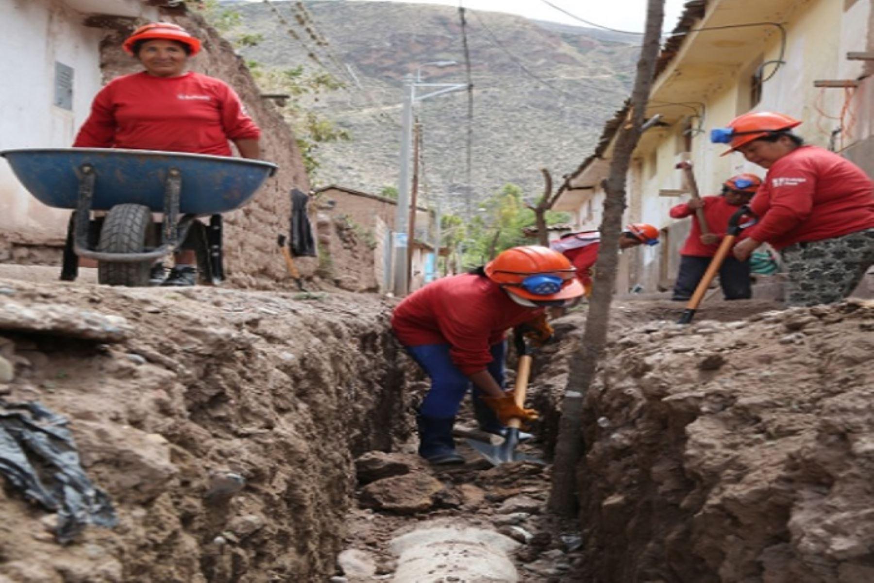 Pobladores de Apurímac se beneficiarán con más de 1,200 empleos temporales. ANDINA/Difusión