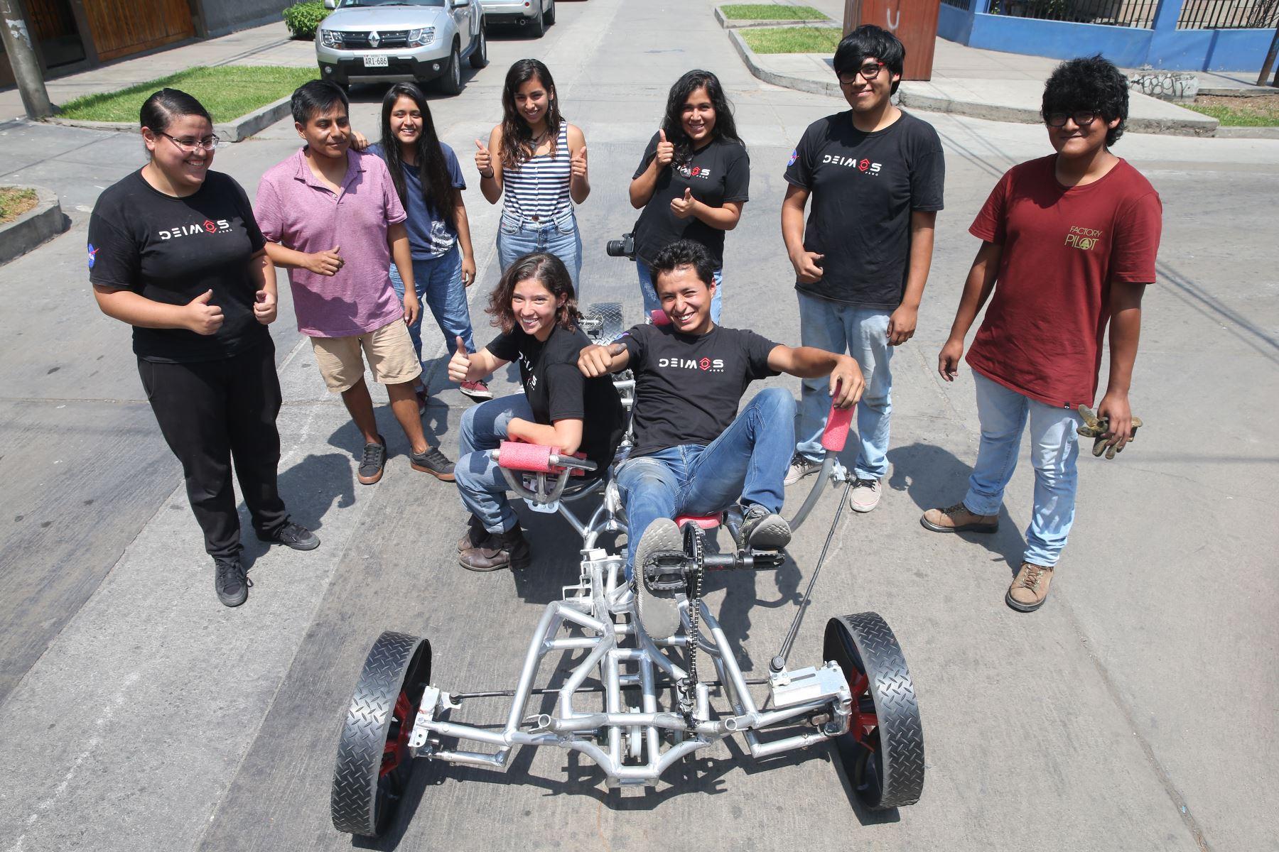 Equipo peruano va por el Premio a Mejor Diseño y Mejor Diseño de Rueda en concurso de NASA. Foto: ANDINA/Eddy Ramos