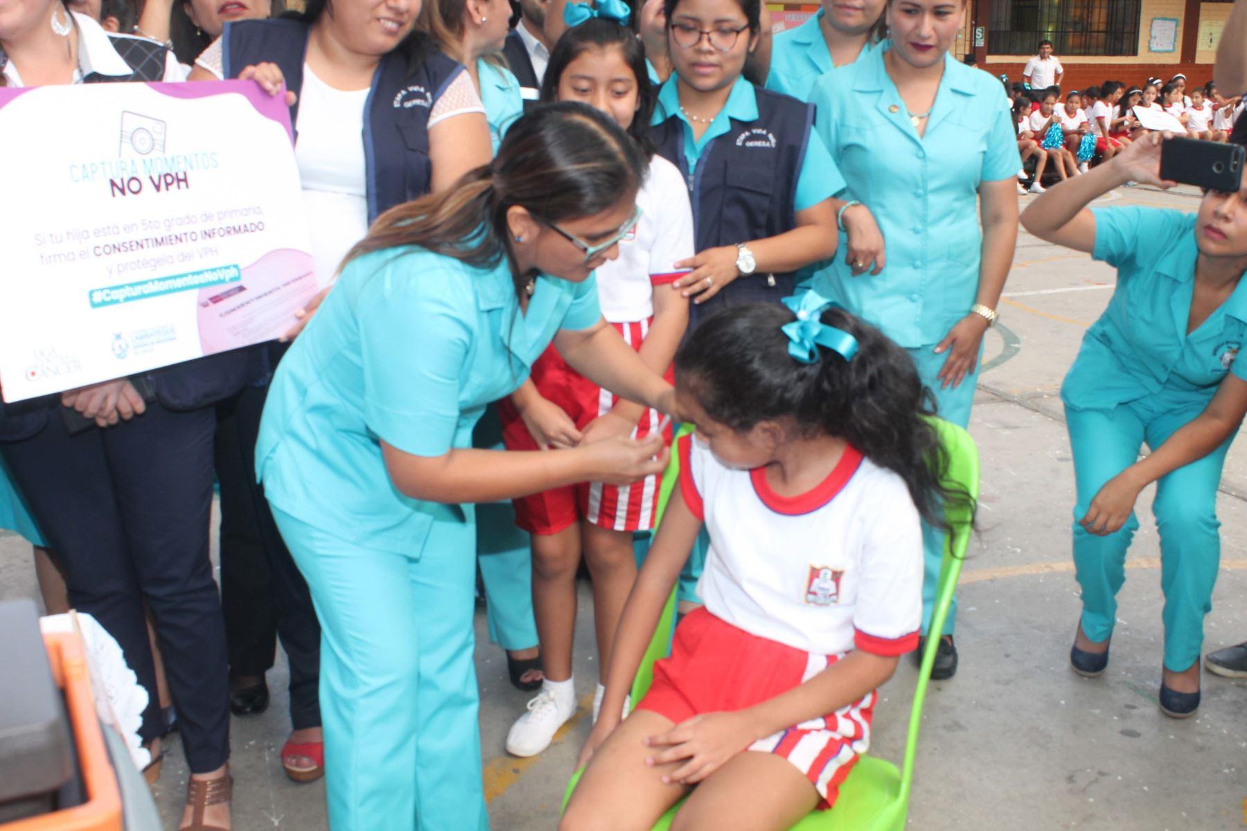 Lanzan campaña de vacunación contra el virus del papiloma humano en Lambayeque. ANDINA/Difusión