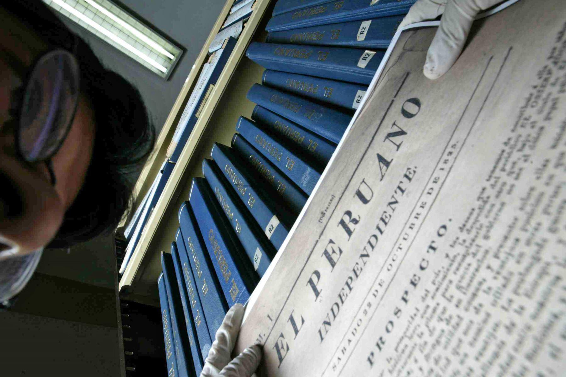 Declaran Patrimonio Cultural de la Nación documentos del diario El Peruano. Foto: ANDINA/ Jack Ramon