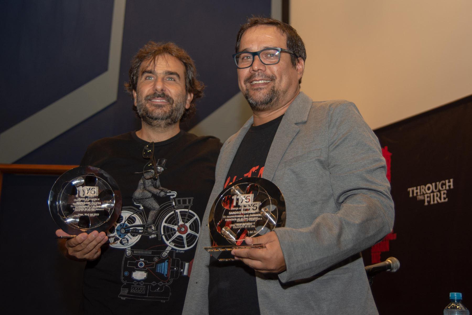 Giovanni Ciccia y Sandro Ventura fueron distinguidos por su aporte en el cine nacional.