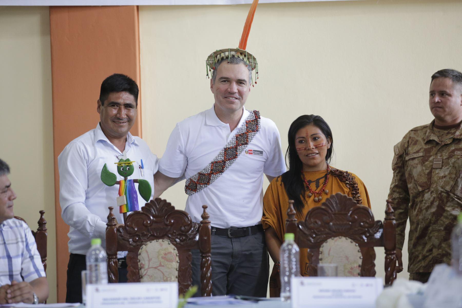 El presidente del Consejo de Ministros, Salvador del Solar, participó en una mesa de trabajo entre el Gobierno Central y las autoridades de la Mancomunidad Regional de Los Andes, en el Vraem. Foto: ANDINA/PCM.