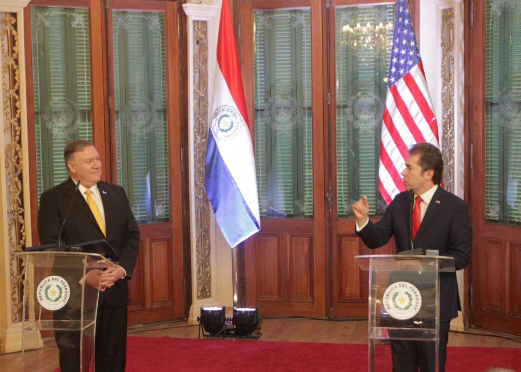 Mike Pompeo en Paraguay. Foto. Agencia IP.