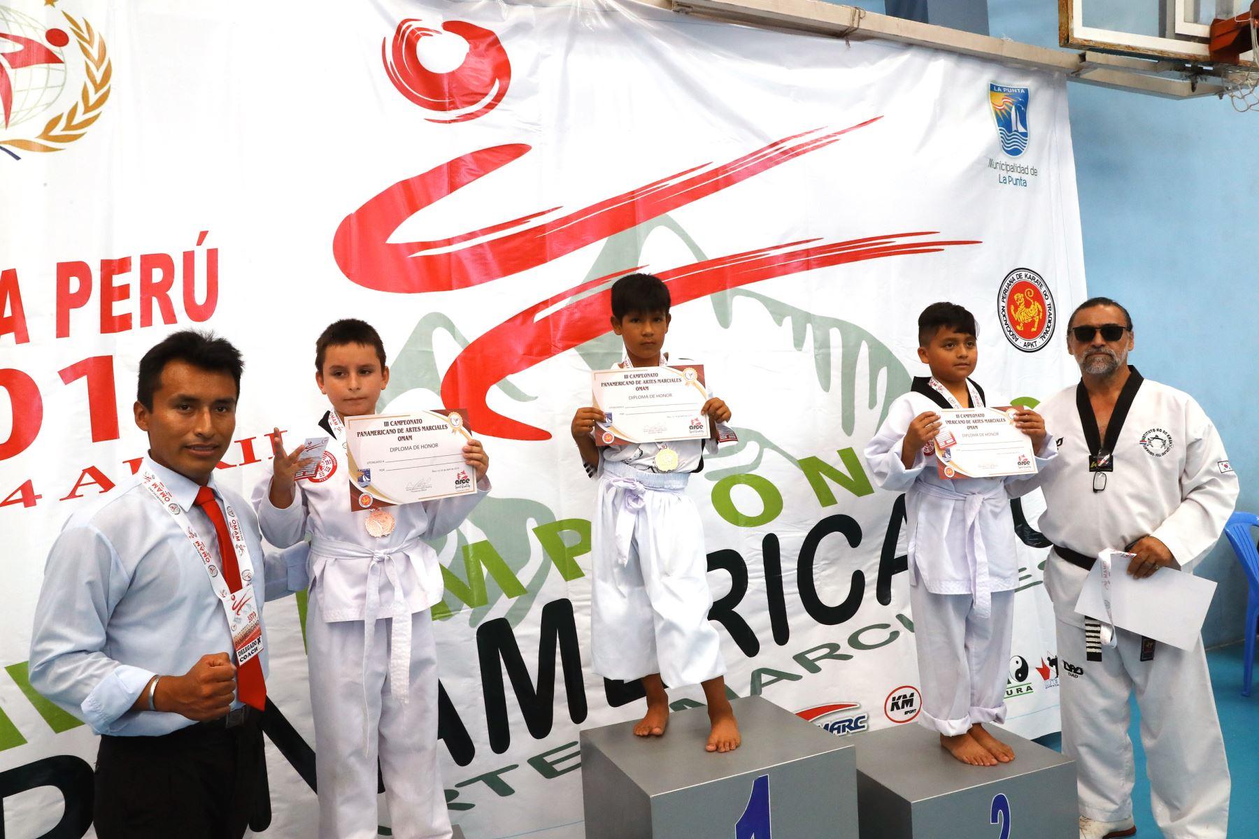 3er campeonato panamericano de artes marciales  OMAM .Foto: ANDINA/Norman Córdova