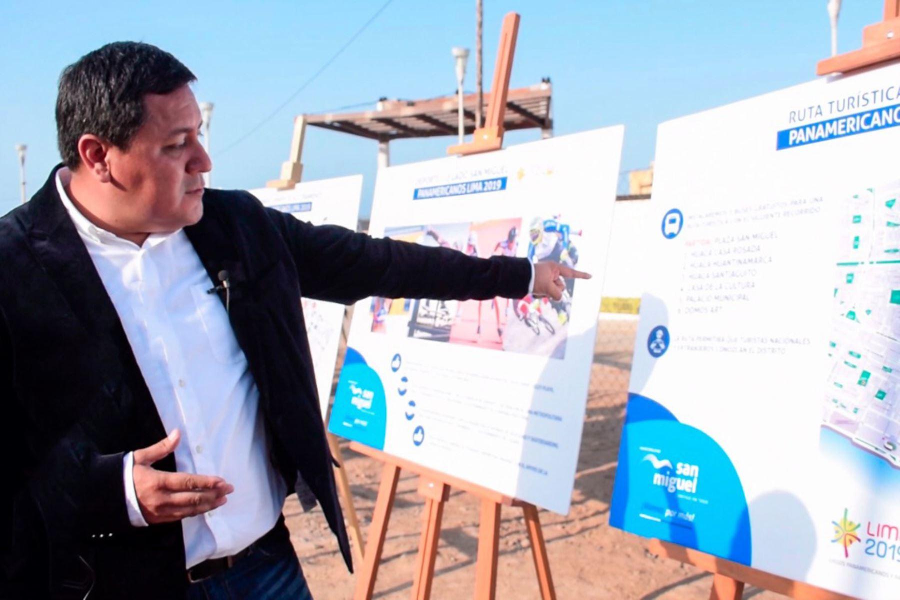 Alcalde de San Miguel, Juan José Guevara, informa sobre planes del distrito para Lima 2019. Foto: Andina/Difusión