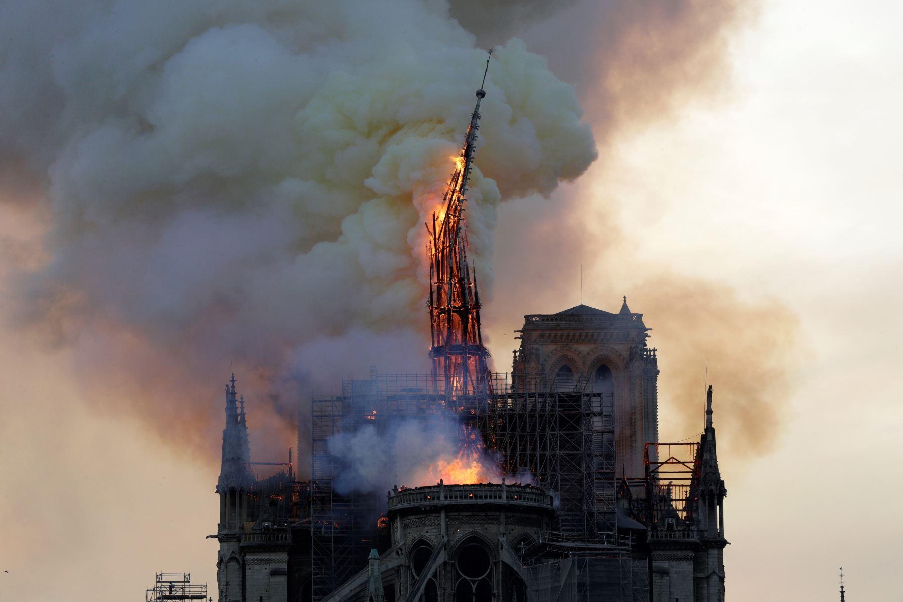 Se incendia la catedral de Notre Dame de ParísLa catedral de Notre Dame de París. Foto: AFP