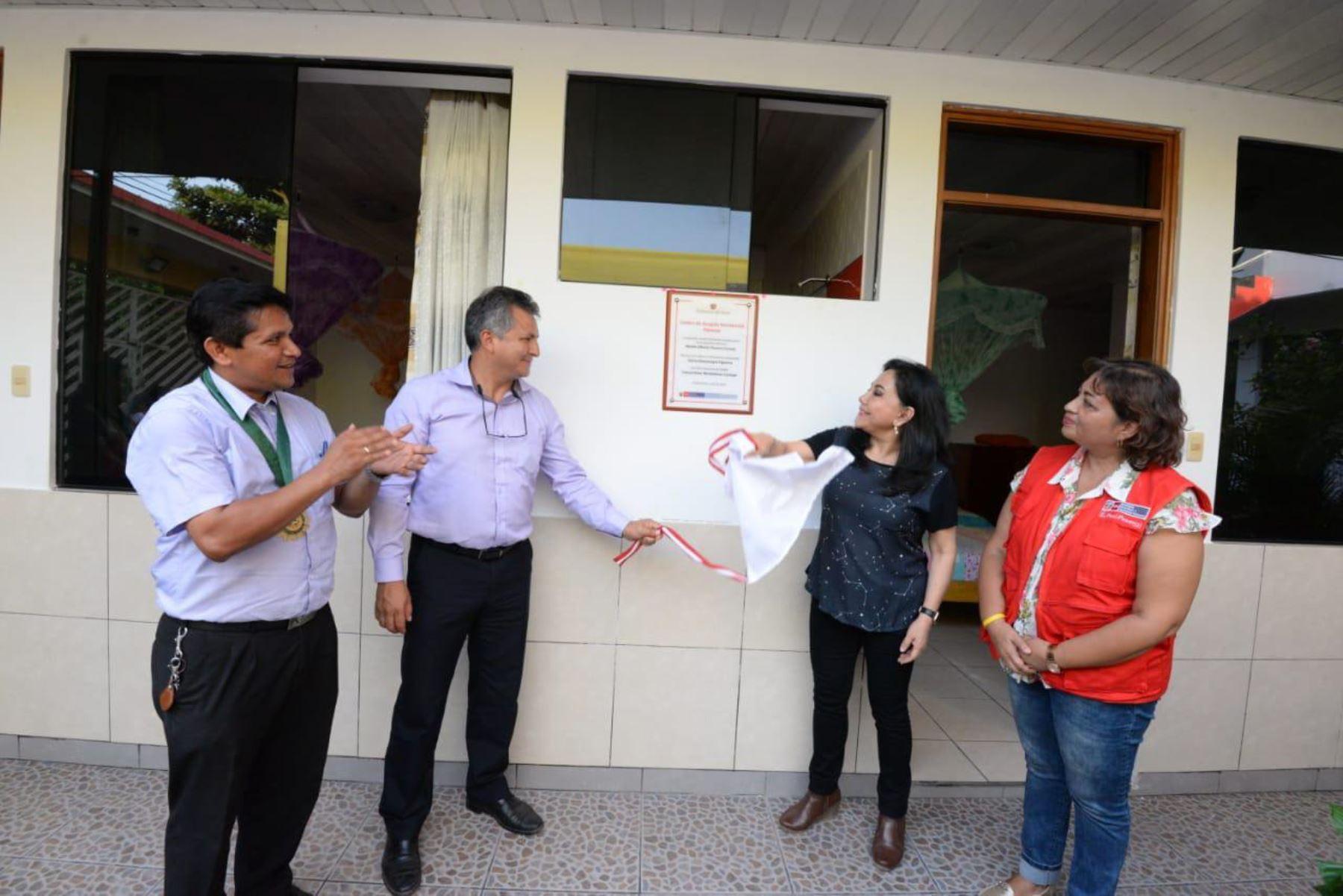 La ministra de la Mujer y Poblaciones Vulnerables, Gloria Montenegro, inauguró el Centro de Acogida Residencial (CAR) Florecer, región Madre de Dios, para las menores víctimas de trata de personas.