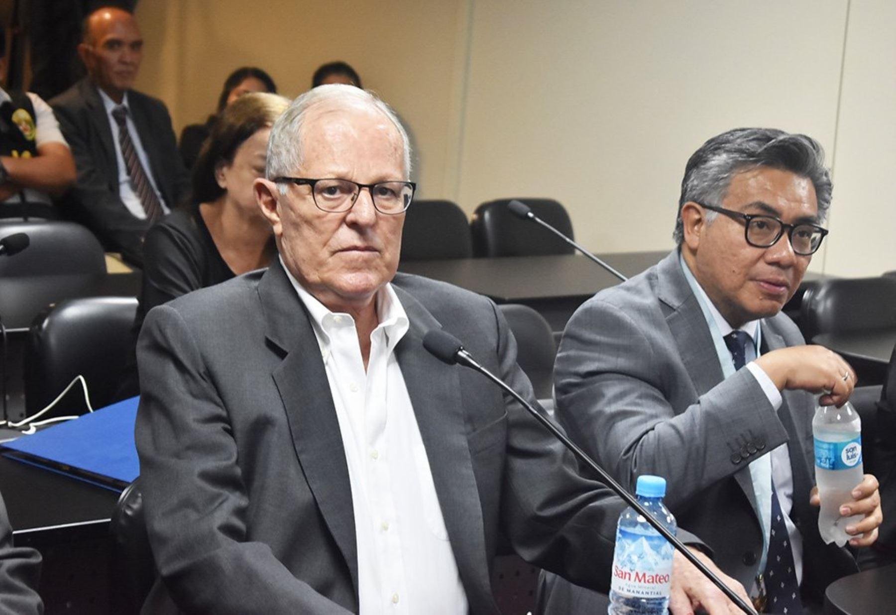 Ex presidente de la República, Pedro Pablo Kuczynski en  audiencia judicial: ANDINA/Poder Judicial
