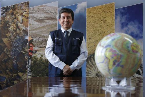Henry Luna Córdova, presidente ejecutivo del Instituto Geológico, Minero y Metalúrgico informó que el primer mapa geológico del Perú estará listo para el Bicentenario de la Independencia. ANDINA/Nathalie Sayago