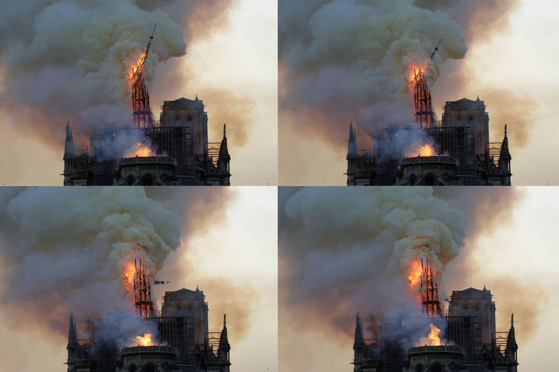 Notre Dame: la gran cruz del altar y estatua de la Virgen María salvan del fuego