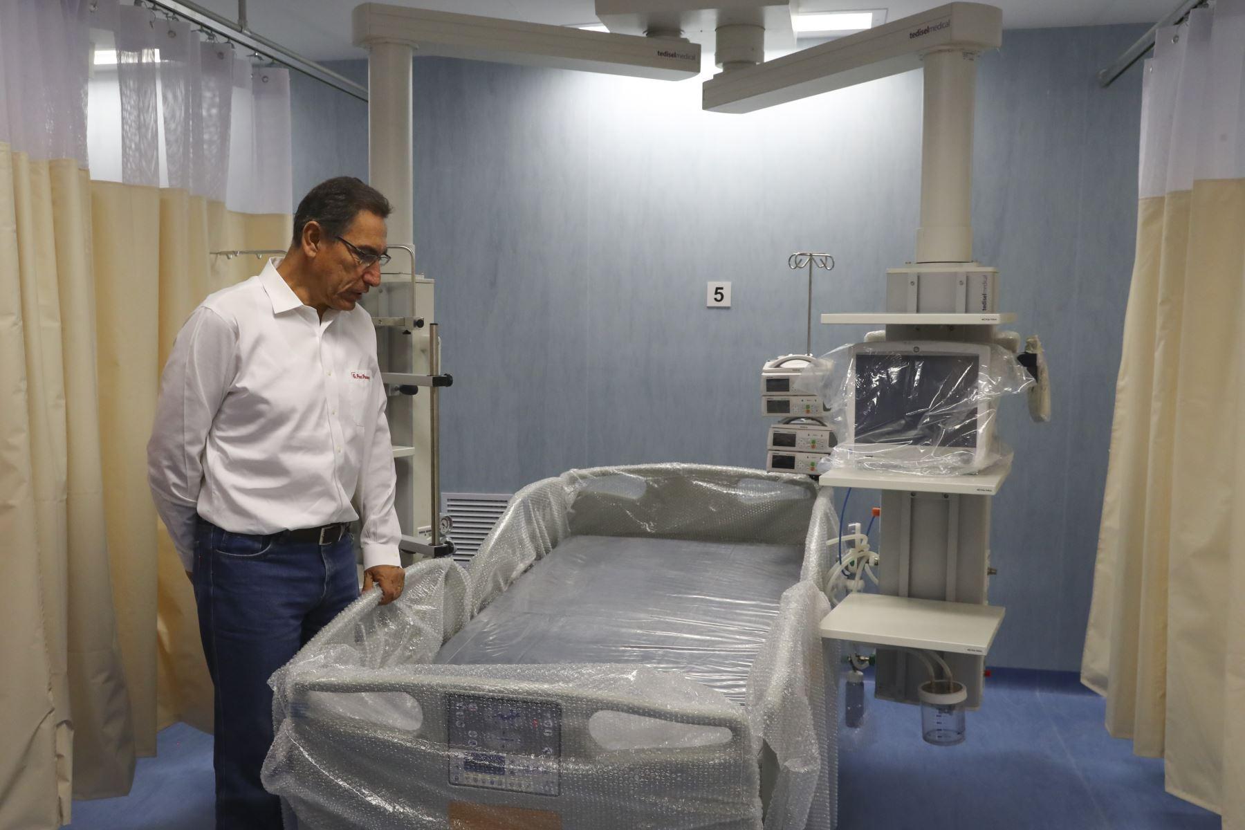 Presidente Vizcarra inspecciona avances de la construcción del Instituto Regional de Enfermedades Neoplásicas ( IREN ) ubicado en la provincia de Concepción ( Junín). Foto: ANDINA/Prensa Presidencia