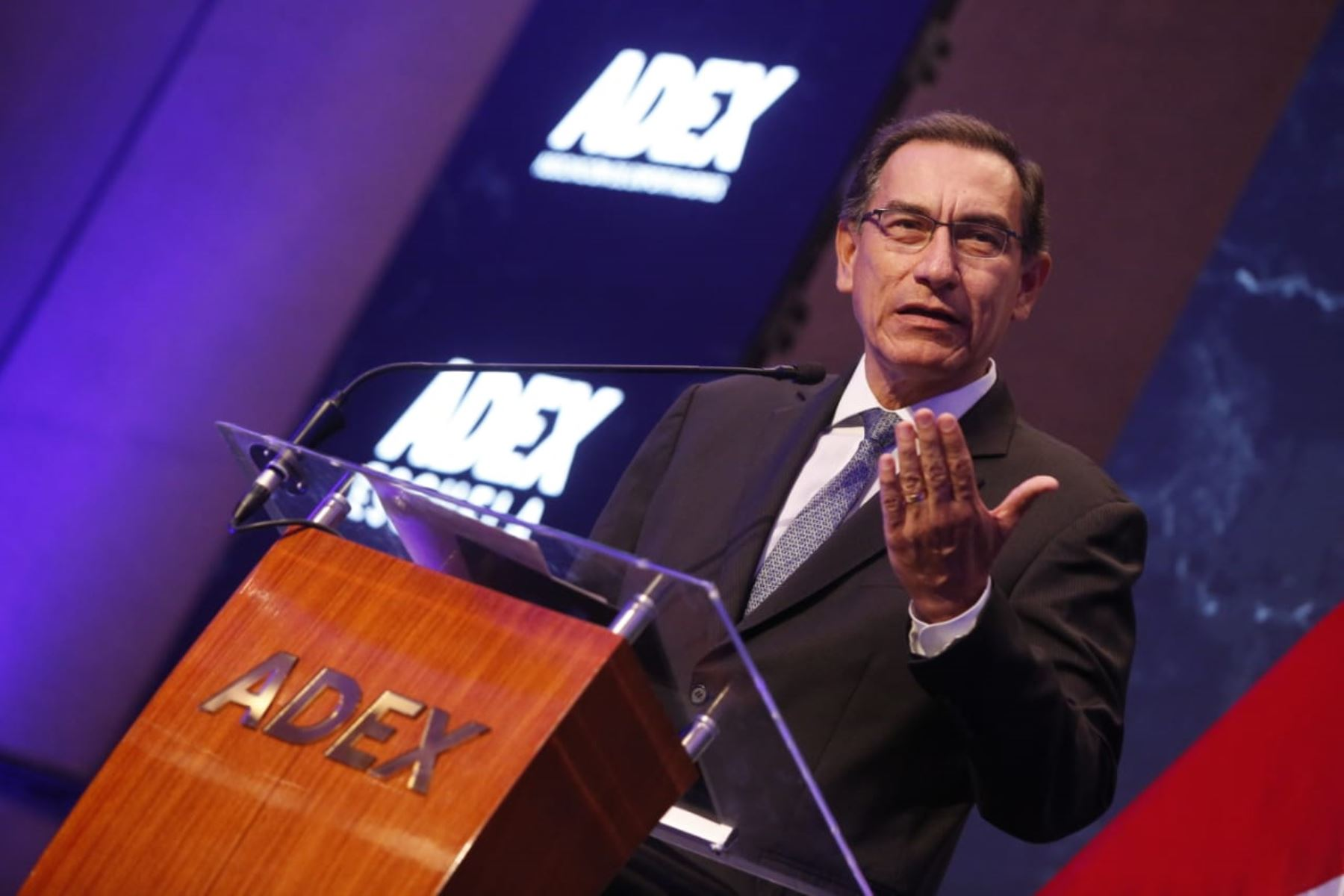 Presidente  Martín Vizcarra participa en la ceremonia de presentación del consejo directivo de la Asociación de Exportadores ( ADEX ).Foto: ANDINA/Presidencia