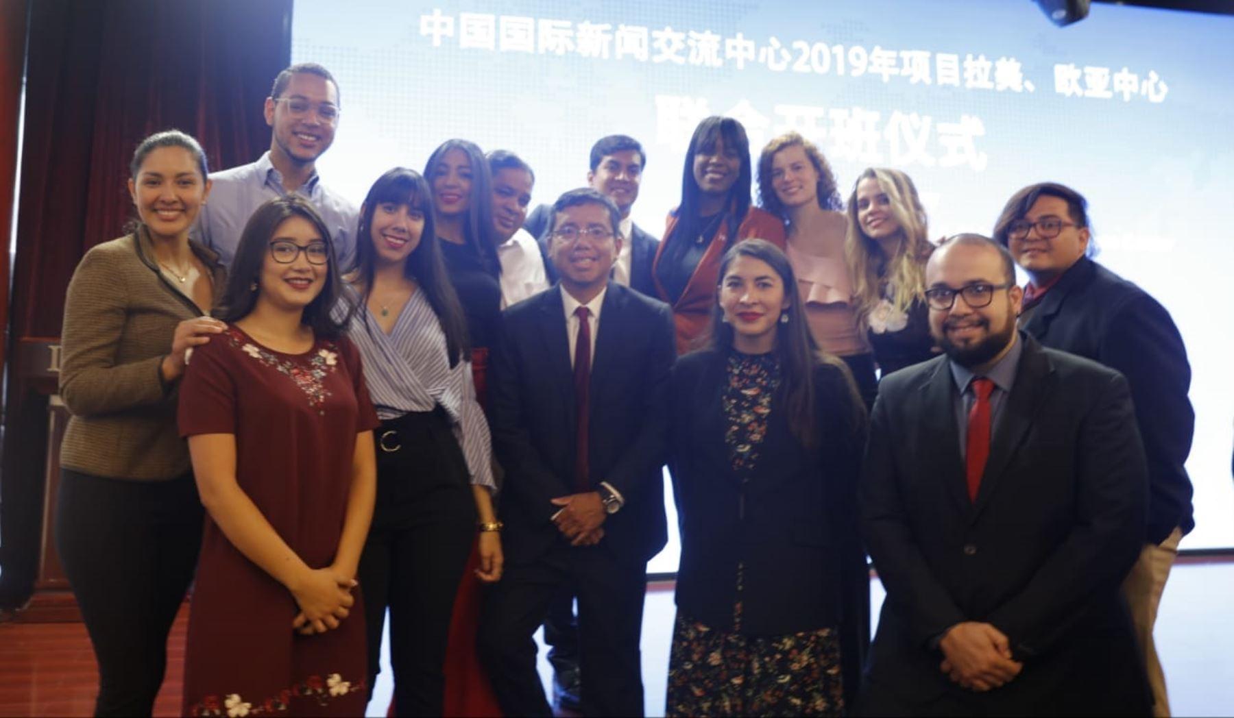 Periodistas participantes del Centro de Prensa China - América Latina y el Caribe, edición 2019.