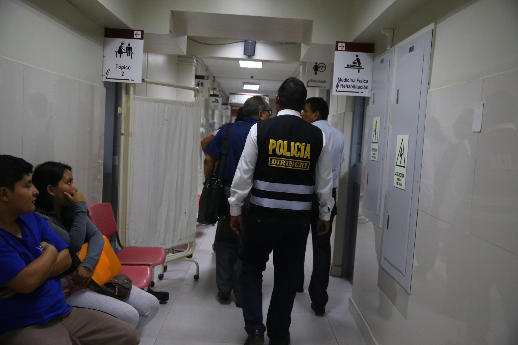 Interiores del hospital Casimiro Ulloa, donde fue internado de emergencia el expresidente Alan García. Foto: ANDINA/ Vidal Tarqui