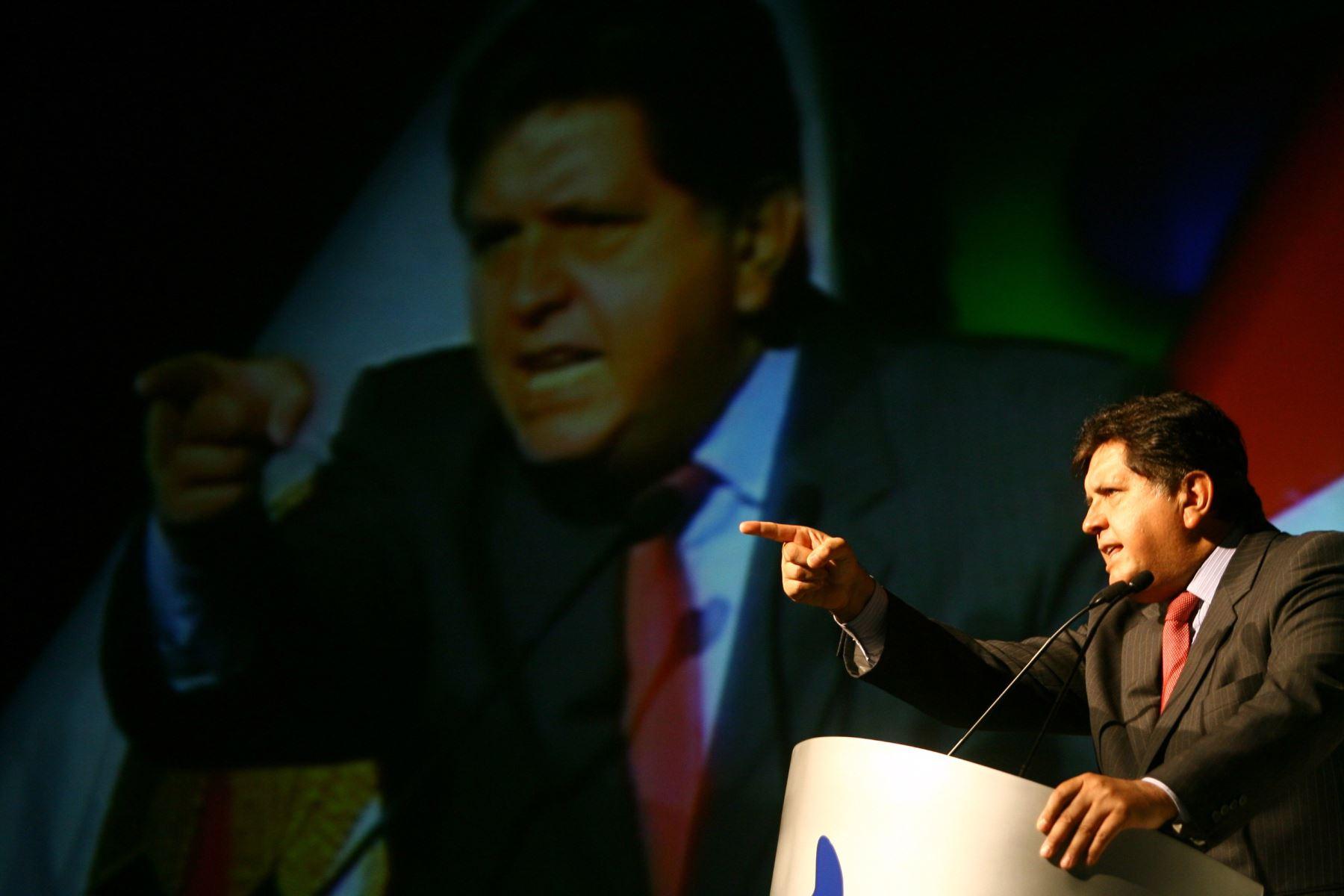 El expresidente Alan García falleció producto de una hemorragia cerebral masiva. Foto: ANDINA/Eduard Lozano