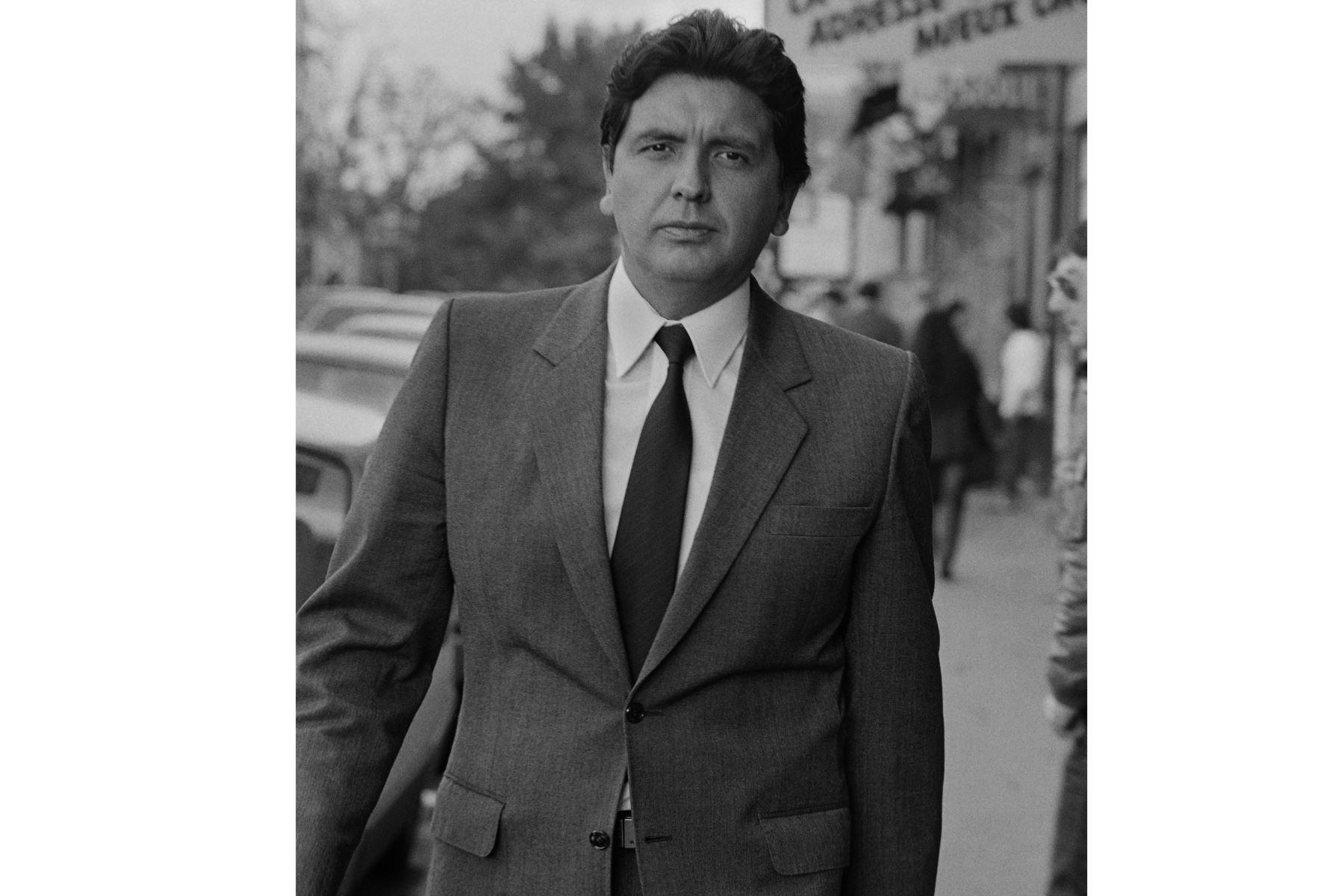 Fotografía tomada el 20 de junio de 1985 en París, mostrando al presidente peruano Alan García.Foto: AFP