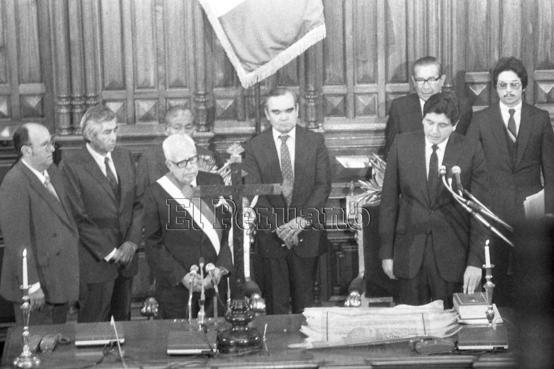 Alan García Pérez asume la presidencia de la República en 1985.  Foto: Archivo Diario El Peruano