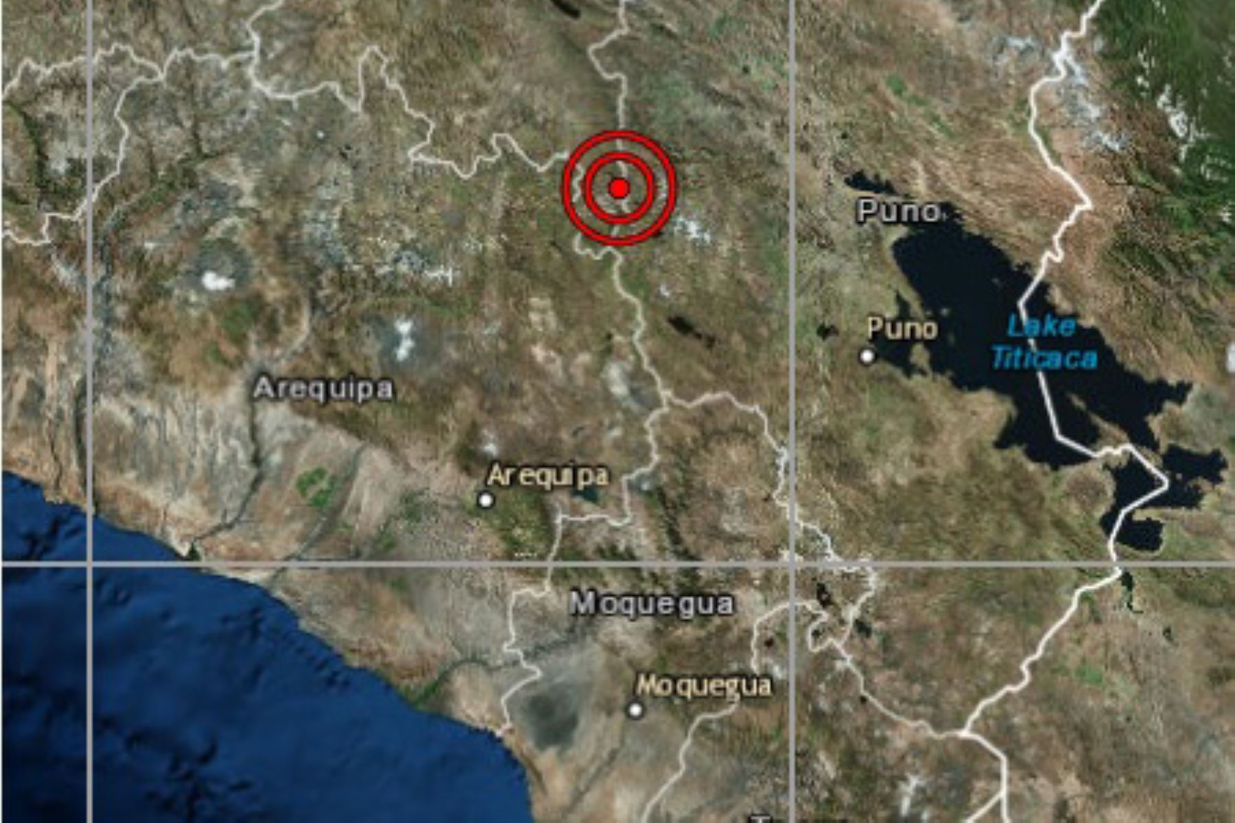 A las 19:09 horas ocurrió un movimiento sísmico de magnitud 5.1 en la provincia de Lampa, región Puno. Foto: INTERNET/Medios