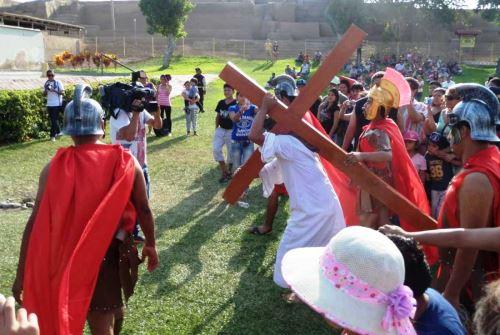 Tradicional Vía Crucis en el Parque de las Leyendas. Foto: ANDINA/Difusión.