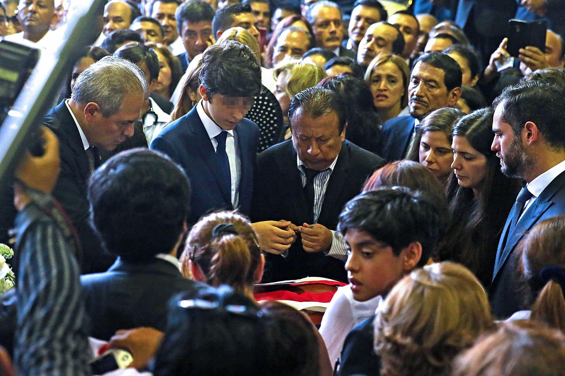 """Continúan las exequias fúnebres del expresidente Alan García en la """"Casa del Pueblo. Foto: ANDINA/Vidal Tarqui"""