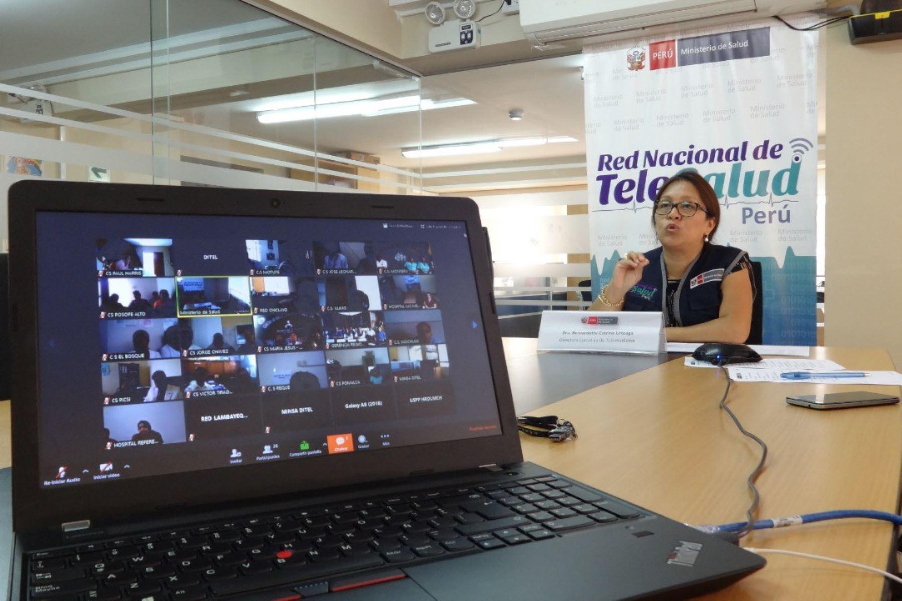 El Ministerio de Salud (Minsa) cuenta con la Red Pública de Telesalud más grande de Latinoamérica, dado que a la fecha esta plataforma sanitaria alberga a 1,101 establecimientos interconectados en las 24 regiones del país, que funcionan como teleconsultantes y teleconsultores. Foto: Minsa