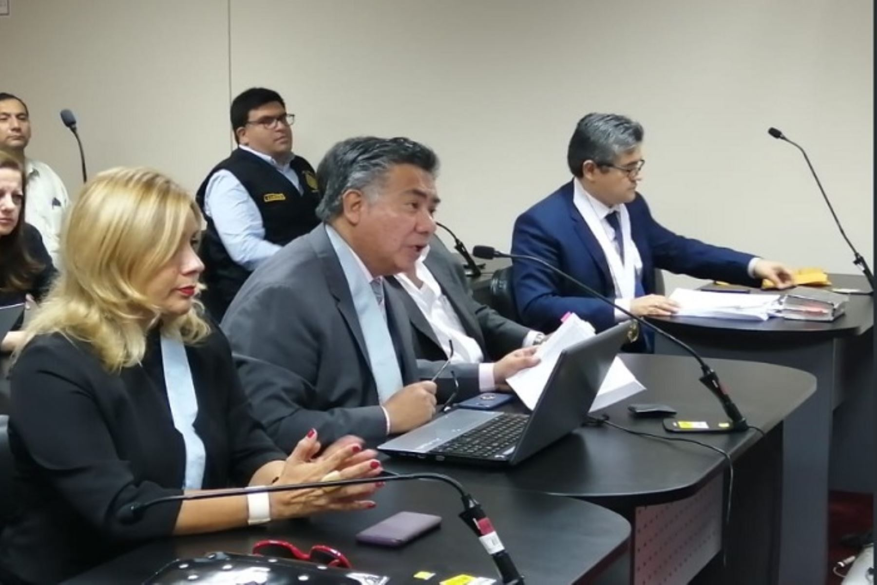 Abogado César Nakazaki, expone ante el juez durante la audiencia en que se evaluó el pedido de prisión preventiva contra el expresidente Pedro Pablo Kuczynski.