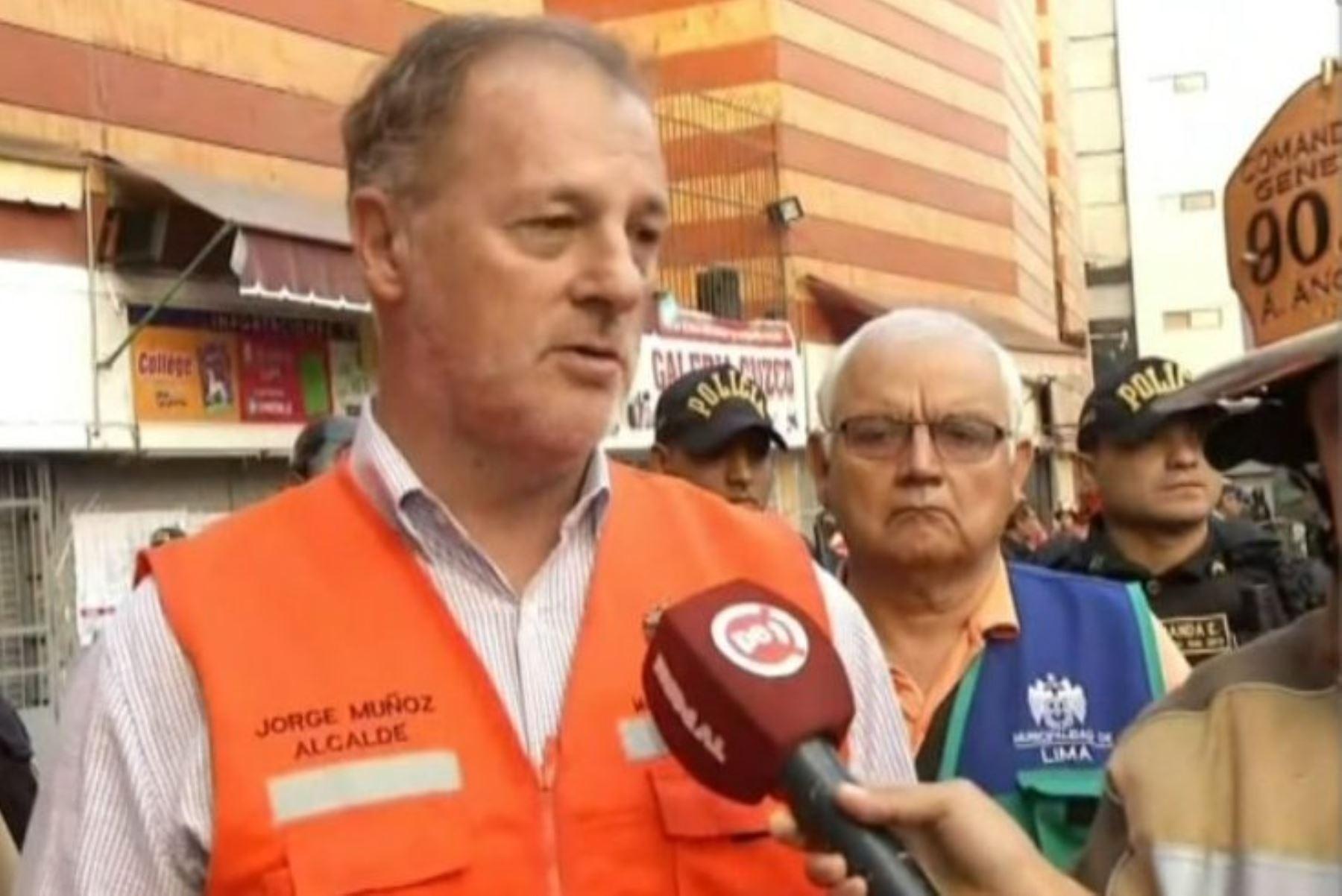 Alcalde de Lima, Jorge Muñoz, en Mesa Redonda. Foto: ANDINA/Difusión.