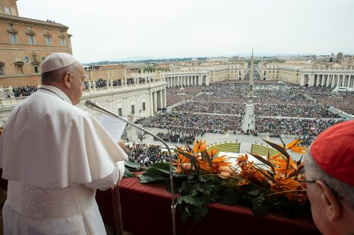 Papa Francisco celebra misa del domingo de Pascua